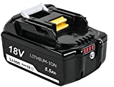 <span class='highlight'><span class='highlight'>Boetpcr</span></span> 2X BL1860B Replacement for Makita 18V Battery Pack BL1860 BL1850 BL1850B BL1840 BL1840B BL1830B BL1830 BL1820 BL1815 BL1835 BL1845 Lxt-400 with Indicator