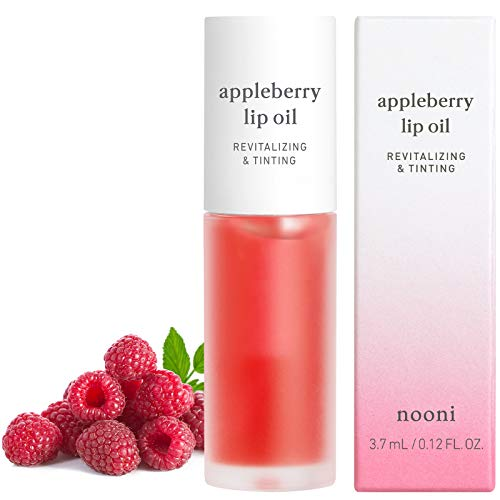 NOONI Appleberry Lip Oil | Korean Lip Oil To Soothe Dry Lips | Skincare, Vegan, Cruelty-free, PETA Certified, Paraben-free, Mineral-Oil free