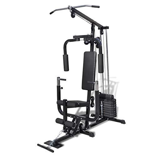 vidaXL Panca Multifunzione Fitness con Pesi Addominali Allenamento Muscolare