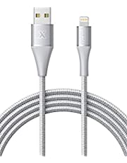 Xcentz Lightningケーブル 6フィート Apple MFi認証 iPhone充電ケーブル プレミアムアルミニウム合金コネクタ ナイロン編組高速充電コード iPhone X/XS/XS Max/XR / 8/8 Plus / 7/7 Plus/6/6s/5s用