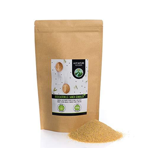 Fenogreco en polvo (500g), molido de fenogreco, 100% natural, semillas de fenogreco como polvo, por supuesto, sin aditivos, vegano, semillas de fenogreco molidas
