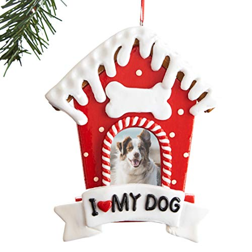 Super Festive, Dog Picture Frame Xmas Ornament. Customize Your Fun 2020 Christmas Keepsake With a Cute Puppy Photo. Perfect for Personalized Secret Santa, Service Dogs Stocking Stuffer or Pet Memorial