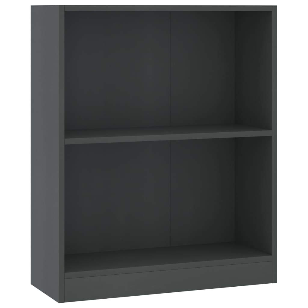 vidaXL Modern Decorative Free Standing Bookcase Book Cabinet/Room Divider with Open Shelf Design | Magazines, Books, DVDs, Multimedia Devices | Gray 23.6x9.4x29.3 inch Chipboard