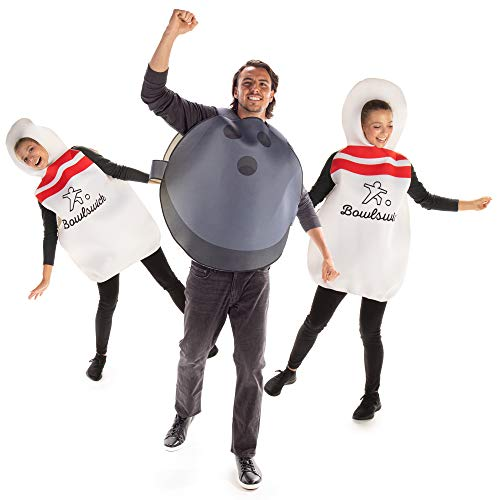 Bowling Alley Buds Halloween Group Costumes - Bowling Ball & Pins Unisex Outift