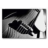 CALVENDO Art Toile en Textile de qualité supérieure 90 cm x 60 cm, chevalet et Corps d'une Guitare Acoustique