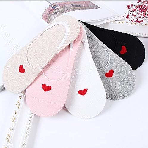 5 par/Lote Verano Casual Lindo Mujeres Calcetines Animal Dibujos Animados ratón Pato Calcetines algodón Invisible Divertido Calcetines tamaño 35-41-a18