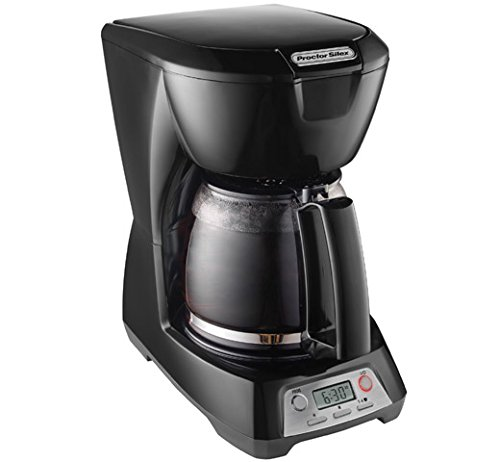 Proctor Silex 12-Cup Coffee Maker, Programmable (43672),Black