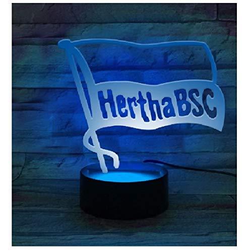 Hertha BSC Berlin LED Licht - Logo - Lampe, Leuchte - Plus Lesezeichen I Love Berlin