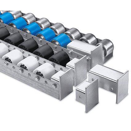 Torwegge Colli-Rollschienen, Stahlrollen verzinkt, Teilung 100 mm