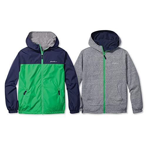 Eddie Bauer Kids Reversible Jacket - Hooded Windbreaker   Navy, X-Small