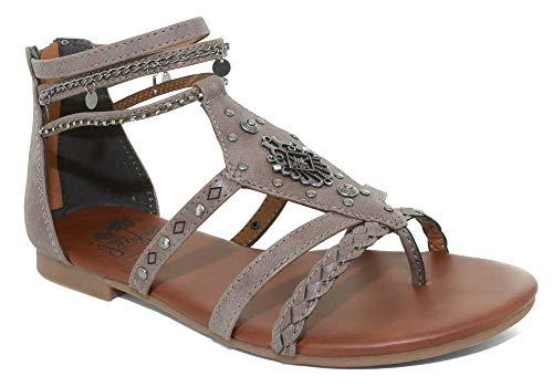Jellypop Denmark Womens Gladiator Sandals Grey 7.5