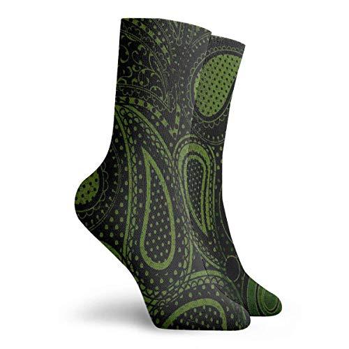 Verctor Socken Green Paisley Special Damen Strumpf Dekor Socke 30CM