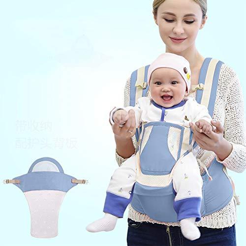 JIE KE Porte-bébé Respirant Conçu de Manière Ergonomique Adaptations Multi-Positions pour Bébé Porte Bébé Physiologique ( Color : Green )