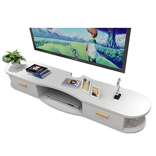 BXYXJ Mueble de TV, Estante Flotante TV, Estante de Almacenamiento de Medios de Mesa de TV de Madera, para decodificadores de Cable/enrutadores/Controles remotos/Reproductores de DVD/Consolas de jue