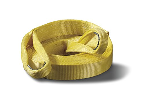 WARN 88897 Nylon Webbing Winch Tree Trunk Protector Rigging Strap, 7.2 Ton (14,400 lb) Capacity, 2' Width x 8' Length, Yellow