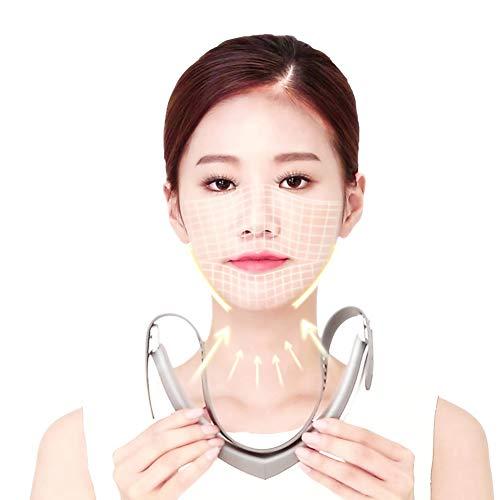 LED visage Massager, V Face Line double menton Réducteur forme lifting visage rouge et bleu clair garder la peau ferme tendre, l'élimination des rides et Blemish