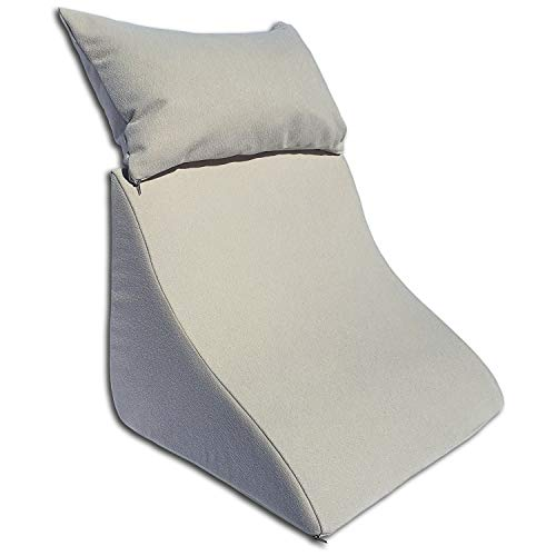 Formalind - Cojín de cuña con Forma Ergonómica y un Acogedor Cojín de sofá para Leer, Ver la Televisión y Relajarse (beige)