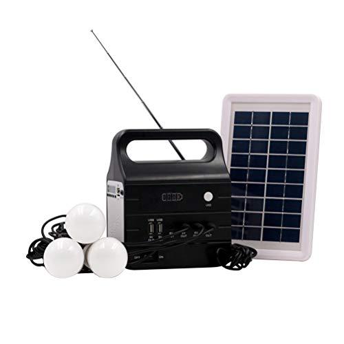 OSALADI Luz Solar del jardín Luz del Paisaje Sistema al Aire Libre del Cargador USB del hogar de la luz LED del jardín LED del generador de energía Solar de 220V 25W