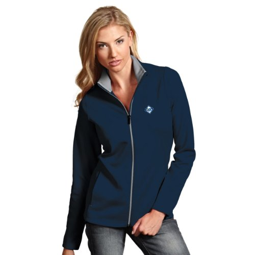 MLB Tampa Bay Rays Women's Leader Jacket, Navy/Silver, Medium