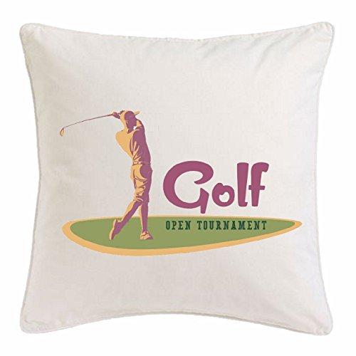 Bandenmarkt kussensloop 40x40cm Golf Golf Golf Golf Golf Golf Golf Golf Golf Golf Golf Golf Golf Golf Golf Golf Slots GOLFPLATZ GOLFCLUB microvezel in wit