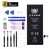 LTZGO Nueva batería de Alta Capacidad 1800mAh Compatible con iPhone SE con Kit de Herramientas de reparación Protector de Pantalla