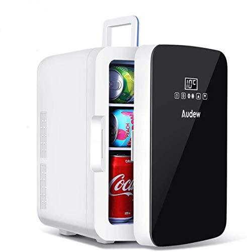 Audew Mini Frigo Portatile AC DC con Funzione di Raffreddamento e Riscaldamento Controllo della Temperatura 2 in 1 per Casa, Ufficio e Auto