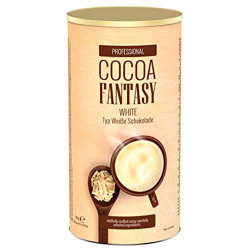 Cocoa Fantasy White Kakao, 850g weiße Trinkschokolade, Instant Kakaopulver, feine weiße Schokolade, 29% Kakaoanteil