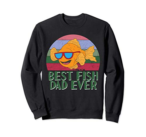 Bester Fischvater aller Zeiten Aquarium Bastler Goldfisch Sweatshirt