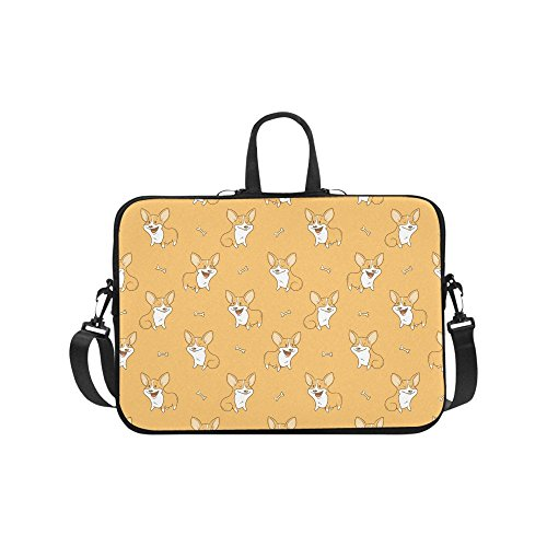 Laptop Sleeve Case 15 15.2 Inch Cute Dogs Pembroke Welsh Corgi Resistant Neoprene Laptop Sleeve Notebook Computer Pocket Case Tablet Briefcase Carrying Bag Laptop Shoulder Bag