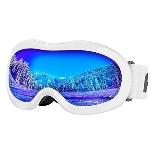 AKASO Kids Ski Goggles, Snowboard Goggles - AKASO Snow Goggles for Youth, Kids & Teenagers