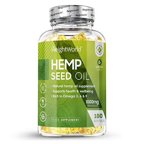 Hemp Oil Omega 3 Capsules - 1000mg - (3 Month Supply) High Strength Hemp Seed Oil Tablets, Natural Supplement for Joints, Brain Health & Calming, Omega 3 for Brain Health, Keto Strong Liquid Softgels
