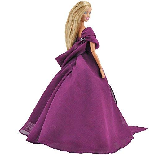 E-TING Haarverlängerungen Handgemachte Kleidung Abendkleid Prinzessin Outfit Für Barbie Fashionista Puppe