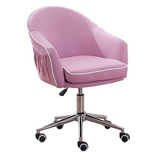 LWZ Netter moderner Schreibtischstuhl, Leinen-Bürostuhl, Verstellbarer Drehstuhl für Schlafzimmer Wohnzimmer, Abnehmbarer Sitzbezug