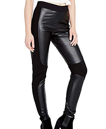 RACHEL Rachel Roy Simone Faux-Leather Stretch Legging (Black, XS)