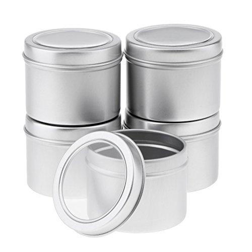 5x Tragbar Aluminium Behälter Kosmetikdose Makeup Container Ideal für Reisen und DIY