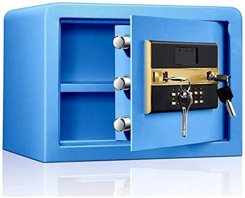 Organizador para el Escritorio Cajas y PDAs Teclado Caja de Seguridad Digital de Acero Perno de Bloqueo a Prueba de Agua antirrobo con Llave for almacenar Archivos de Azul joyería Segura