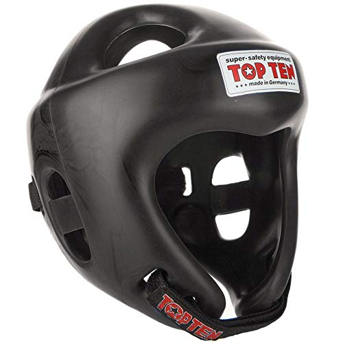 TopTen Competition Fight Helm, Schwarz, L 59-64 cm