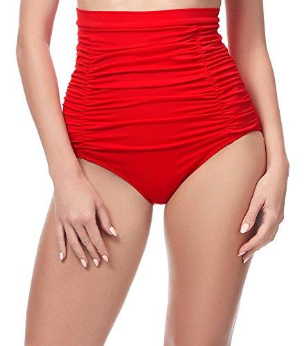 Merry Style Bragas de Bikini Altas Parte de Abajo Bañador Corte Alto Mujer MS10-146