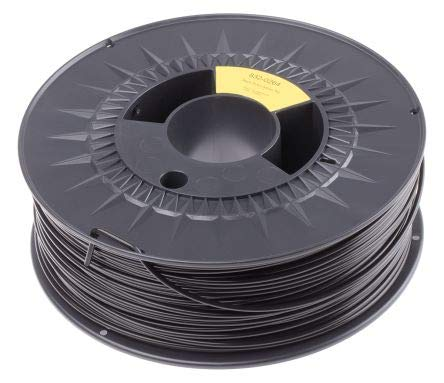 RS PRO 2.85mm Black PLA 3D Printer Filament, 1kg