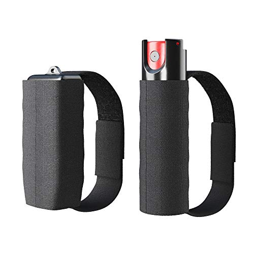 ARMADILLO DEFENSE Runners Pepper Spray and Personal Alarm Key Chain Bundle with a Strap (2 Pack) for Protection and Self Defense, Safeguard for Women and Men, Tear Gas and Panic Button
