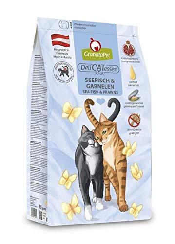 GranataPet Delicatessen Seefisch & Garnele, Trockenfutter für Katzen, schmackhaftes Katzenfutter, Alleinfuttermittel ohne Getreide & ohne Zuckerzusätze, 300 g