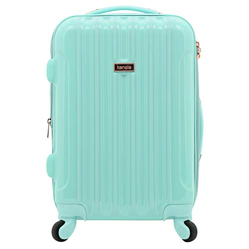kensie Women's Alma Hardside Spinner Luggage, Opal, Carry-On 20-Inch