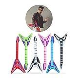 Relaxdays- Guitarra Hinchable Eléctrica, Multicolor, 95 cm (10024258)