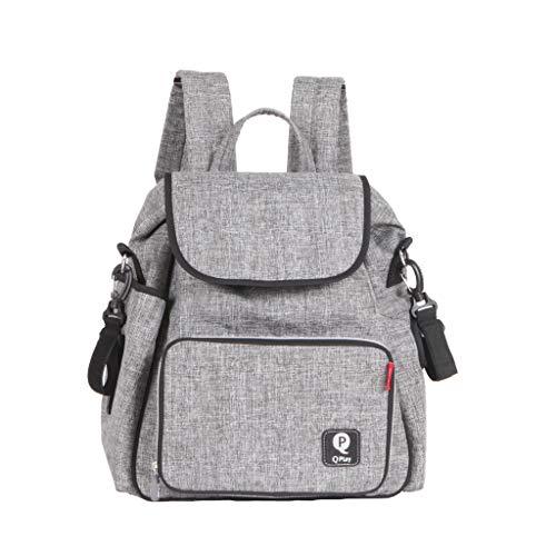 QPLAY Bolso mochila cambiador bebé - Leisure Gris - triciclos