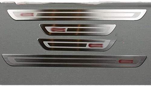 4 Pcs Coche Externo Umbral Puerta Bienvenida Kick Plates para Vw Golf 6 7 Mk6 Mk7 Gti 5door 2009-2018, Car Acero Inoxidable Antiarañazos Antideslizante