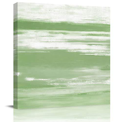 HOMMOU Lienzo impreso de pared para oficina, hogar, decoración de pared, textura verde abstracta, arte moderno, lienzo enmarcado para sala de estar, cocina, baño, 8 x 8 pulgadas