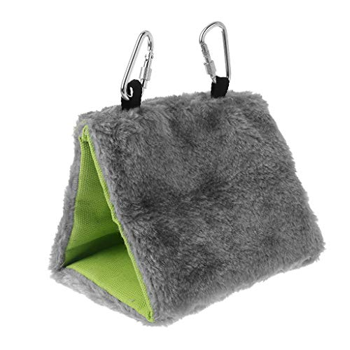 Green & Rare Hamaca de peluche para pájaros, camas, tienda de campaña, invernal, jaula de nido de amor, jaula de juguete