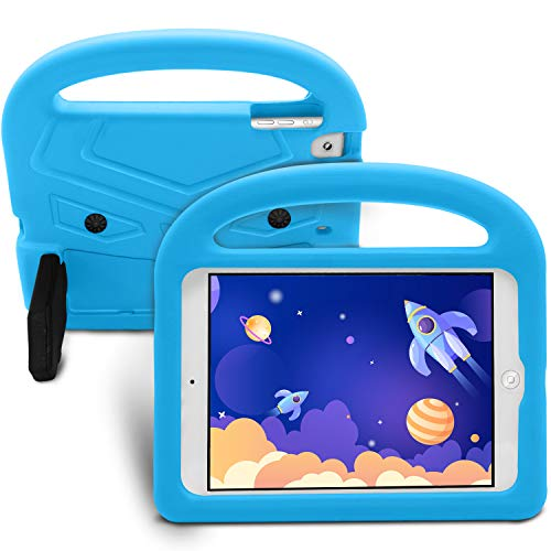 EVA Kids Case for iPad Mini 5 4 3 2 1 Full Protection Cover Handle Stand Tablet Case Cover[Lightweight][Shockproof]