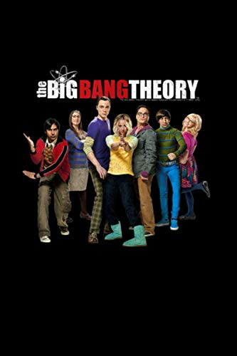 The Big Bang Theory Group Shot Logo Notebook 114 Pages 6''x9'' College Ruled