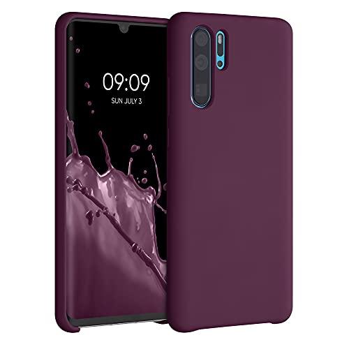 kwmobile Hülle kompatibel mit Huawei P30 Pro - Hülle Silikon gummiert - Handyhülle - Handy Hülle in Bordeaux Violett